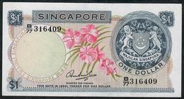 SINGAPORE P1c   1 DOLLAR  1971 W/o Seal   #B/77    AU   NO P.h. - Singapour