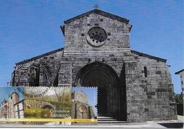 CARTE MAXIMUM - MAXICARD - MAXIMUM KARTE- MAXIMUM CARD - PORTUGAL - CHEMINS SANTIAGO - ÉGLISE DE RATES - POVOA DE VARZIM - Eglises Et Cathédrales