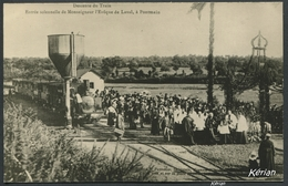 Repro D'une CPA . Descente Du Train - Entrée Solennelle De Monseigneur L'Évêque De Laval à Pontmain - Voir 2 Scans - Pontmain