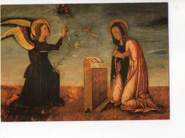 U4338 Cartolina Pittura Religiosa Con Angeli (angel, Ange) BASTIANETTO: ANNUNCIAZIONE - COLLEZIONE PRIVATA DI VENEZIA - Angeli