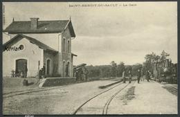 Ancienne Reproduction D'une CPA - Format 140 X 90 - Saint-Benoit-du-Sault - La Gare - Voir 2 Scans - France