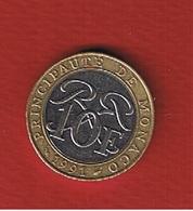Monaco  -  10 Francs 1991  -  état  TTB + - Monaco