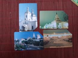 4 Phonecards Rusland Urmet Used - Russie