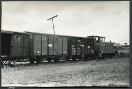 Photo Pérève - Rame Marchandises Avec Wagons Marqués E. De A. (Espagne ??) - Voir 2 Scans - Treinen