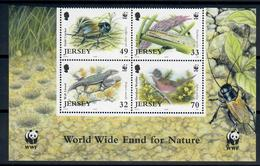 JERSEY 2004 - FAUNA ANIMALI - WWF - SERIE COMPLETA - MNH ** - Jersey