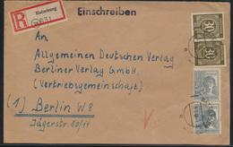 Alliierte Besetzung Gemeinschaft R Brief Ratzeburg Nach Berlin 5.3.1948  - Gemeinschaftsausgaben