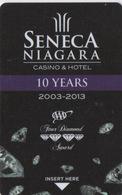 Carte Clé Hôtel Avec Casino Adjoint : Seneca Niagara Casino & Hotel : 10 Years 2003-2013 - Cartes D'hotel
