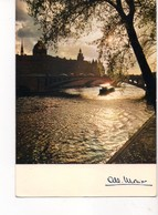 U4350 Postcard 1980 PARIS, ROMANTISME DE LA SEINE + NAVE NAVI NAVY SHIP BATEAU _ @ Cap Theojac - Altri