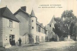 63 MONTEL DE GELAT  L'église    2scans - Autres Communes
