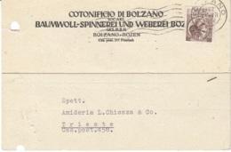 Cartolina Commerciale Cotonificio Bolzano 1956 Bolzano - 6. 1946-.. Republic