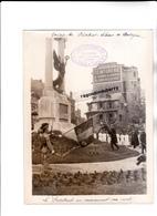 PHOTO - 12 - RODEZ - MILITARIA - Visite En Aveyron Du Président LEBRUN Les 11 Et 12 Juin 1933 - LE PRESIDENT Au MONUMENT - Guerre, Militaire