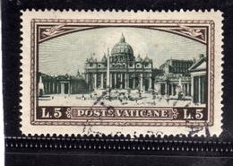 VATICANO VATICAN VATIKAN 1933 GIARDINI E MEDAGLIONI LIRE 5 USATO USED OBLITERE - Vatican