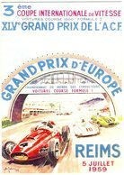 Grand Prix D'Europe à Reims   -  1959 -  Publicité  -  CPR - Grand Prix / F1