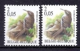 BUZIN  Papier + Kleur Variaties * Nr 2919 * Helder + Dof Fluor Papier * Postfris Xx * - 1985-.. Pájaros (Buzin)