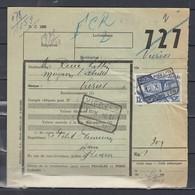 Vrachtbrief Met Stempel Fleurus - Spoorwegen