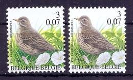 BUZIN  Papier + Kleur Variaties * Nr 2920 * Helder + Dof Fluor Papier * Postfris Xx * - 1985-.. Pájaros (Buzin)