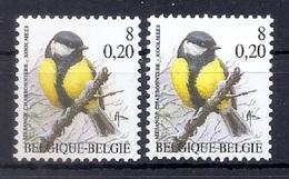 BUZIN  Papier + Kleur Variaties * Nr 2966 * Helder + Dof Fluor Papier * Postfris Xx * - 1985-.. Pájaros (Buzin)