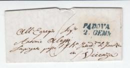 Prefilatelica Padova 1845 - 1. ...-1850 Prephilately