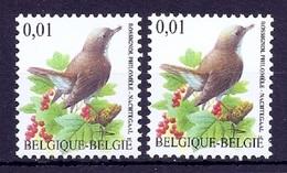BUZIN  Papier + Kleur Variaties * Nr 3264 * P8a + P6a * Postfris Xx * - 1985-.. Pájaros (Buzin)