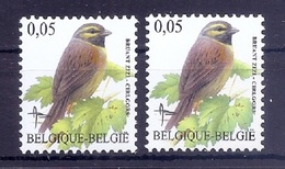 BUZIN  Papier + Kleur Variaties * Nr 3479 * Helder + Dof Fluor Papier * Postfris Xx * - 1985-.. Pájaros (Buzin)