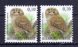 BUZIN  Papier + Kleur Variaties * Nr 3956 * Helder + Dof Wit Papier * Postfris Xx * - 1985-.. Pájaros (Buzin)