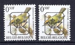 BUZIN  Papier + Kleur Variaties * Nr 815 * P6a + P8 * Postfris Xx * - 1985-.. Pájaros (Buzin)
