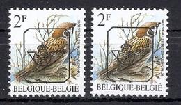 BUZIN  Papier + Kleur Variaties * Nr 818 * P6 + P6a * Postfris Xx * - 1985-.. Pájaros (Buzin)