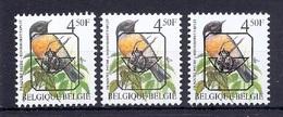 BUZIN  Papier + Kleur Variaties * Nr 825 * P6 + P6a + P7b * Postfris Xx * - 1985-.. Pájaros (Buzin)