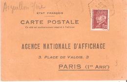 Vendée :- AIGUILLON S/ VIE Dateur Type F4 Sur Attestation D'affichage - Marcophilie (Lettres)