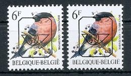 BUZIN  Papier + Kleur Variaties * Nr 828 * P6a + P7b * Postfris Xx * - 1985-.. Pájaros (Buzin)