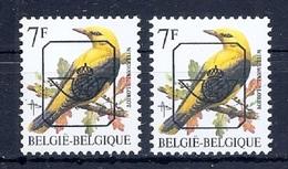 BUZIN  Papier + Kleur Variaties * Nr 830 * P6a + P8 * Postfris Xx * - 1985-.. Pájaros (Buzin)