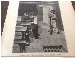 """1901 ECOLE DES MOUSSES A CETTE A BORD DE """" L'HÉRAULT """" - LA NOUVELLE SORBONNE - CHÂTEAU DE LA BARRE  - PARIS INSTANTANÉ - Livres, BD, Revues"""