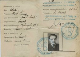 4332 - Savoie - MODANE : CARTE De CIRCULATION TEMPORAIRE  De Mars à Juin 1940-  Mr Henri à St André - Modane