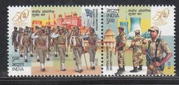 INDIA 2018 Central Industrial Security Force, Set 2v Setenant, Militaria, MNH(**) - Inde