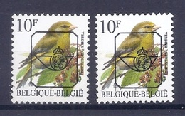 BUZIN  Papier + Kleur Variaties * Nr 835 P6a * Helder + Dof Wit Papier * Postfris Xx * - 1985-.. Pájaros (Buzin)