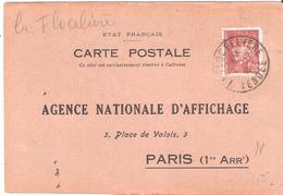 Vendée :- LA FLOCELIERE Dateur Type A4 Sur Attestation D'affichage - Marcophilie (Lettres)