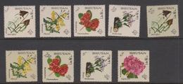 Bhutan Scott 85-85H 1967 Flowers, Mint Never Hinged - Bhutan