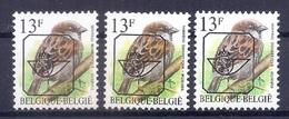 BUZIN  Papier + Kleur Variaties * Nr 837 * P6a + P8 + P6* Postfris Xx * - 1985-.. Pájaros (Buzin)
