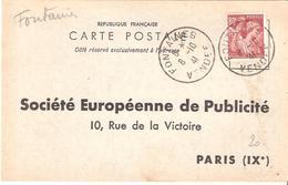 Vendée :- FONTAINES Dateur Type A4 Sur Attestation D'affichage - Marcophilie (Lettres)