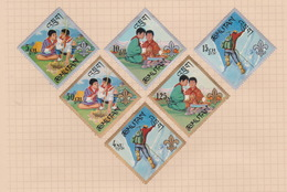 Bhutan Scott 86-86E 1967 Boy Scouts, Mint Hinged - Bhutan