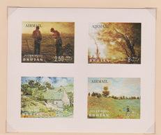 Bhutan Scott 96s 1968 Paintings, Miniature Sheet, Mint Never Hinged - Bhutan