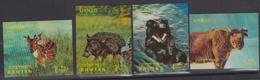 Bhutan Scott 116I-116L 1970 Animals Airmail, Mint Never Hinged - Bhutan