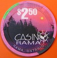 $2.50 Casino Chip. Casinorama, Ontario, Canada. N07. - Casino