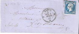 20c.Empire Non Dentelé Type I Oblitéré Losange D + Dateur 1521 - Marcophilie (Lettres)