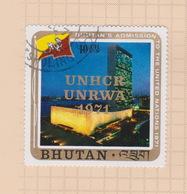 Bhutan Scott 141 1971 World Refugee Year 10 Ch, Used - Bhutan