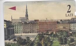 Latvia, M-012, 2 Ls, Riga, Aspazijas Boulevard,  2 Scans. - Lettland