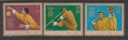 Bhutan Scott 147D,F,G,1972 Munich Olympic Games Airmail, Mint Never Hinged - Bhutan