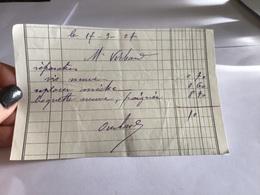 Musiqie Monsieur  Oucard Mirecourt  Réparation Vis Neuve Replacer Meche Baguette Neuve Poignée  Signature Ouchard - Ambachten