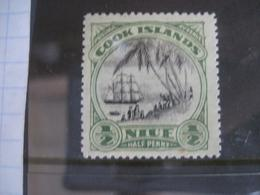 Niue 1920 Sailing Ships Palm Trees   MNH - Niue