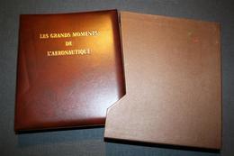 "Album ""les Grands Moments De L'aéronautique / 8 Timbres Or - Dominique (1978-...)"